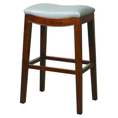 Lilly 31 Bar Stool Finish: Mystique Gray, Upholstery: Turquoise