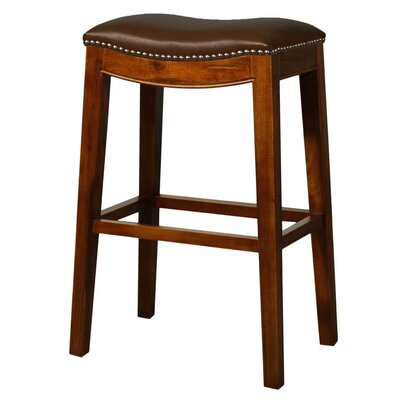 Lilly 31 Bar Stool Finish: Brown, Upholstery: Brown
