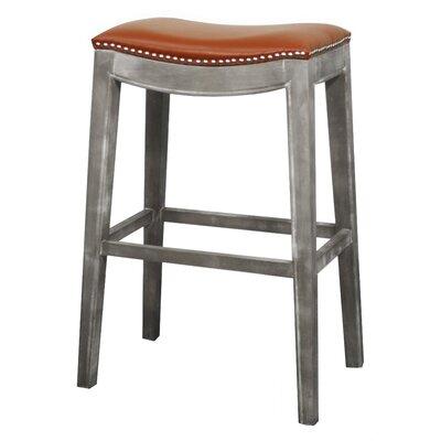 Lilly 31 Bar Stool Upholstery: Pumpkin, Finish: Mystique Gray