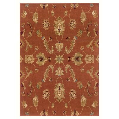 Leesville Traditional Design Red Area Rug Rug Size: 92 x 126