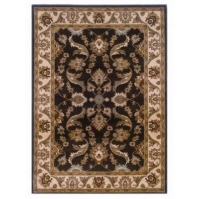 Leesville Brown/Cream Area Rug Rug Size: 79 x 99