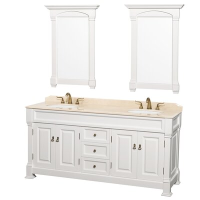 Andover 72 Double Vanity Set Top Finish: Ivory Marble