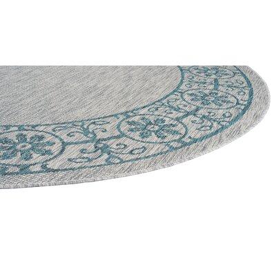 Veranda Traditional Teal Indoor/Outdoor Area Rug Rug Size: 710 x 103