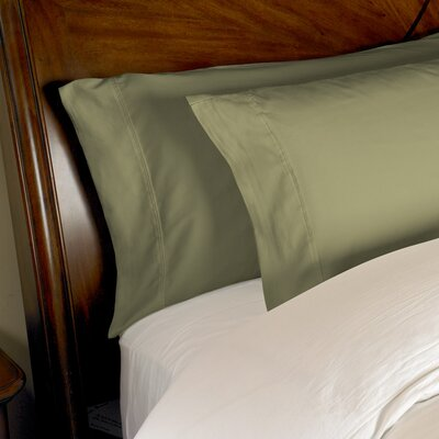 Estela 1200 Thread Count Egyptian-Quality Cotton Pillow Case Size: King, Color: Sage