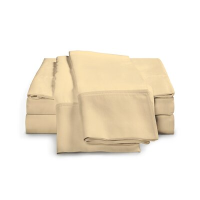 Estela 1200 Thread Count Egyptian-Quality Cotton Sheet Set Size: California King, Color: Gold