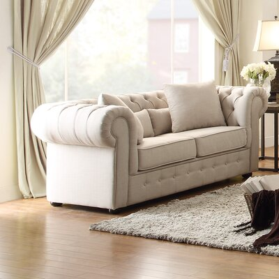 Darby Home Co DBYH9309 Pearlie Chesterfield Loveseat