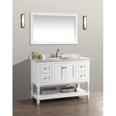 Amie 48 Single Bathroom Vanity Set with Mirror