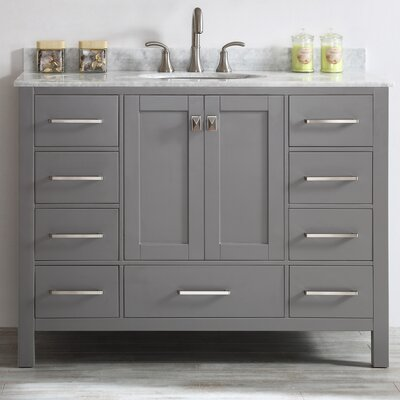 Rosalinda 48 Single Vanity Set Base Finish: Gray