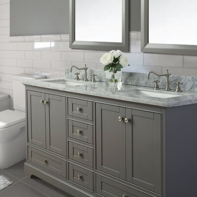 Michael 60 Double Bath Vanity Set Base Finish: Sapphire Grey