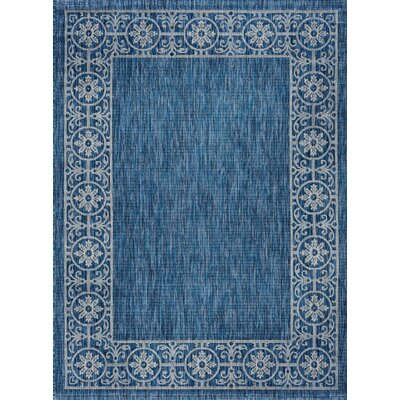 Mann Traditional Indigo Indoor/Outdoor Area Rug Rug Size: 67 x 96