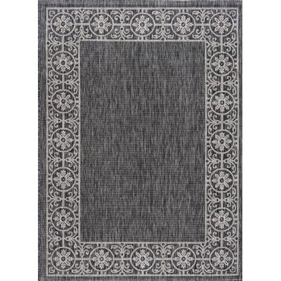 Mann Traditional Black Indoor/Outdoor Area Rug Rug Size: 53 x 73