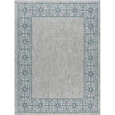 Mann Traditional Teal Indoor/Outdoor Area Rug Rug Size: 67 x 96