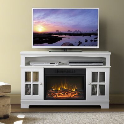 Edna TV Stand with Electric Fireplace Finish: White