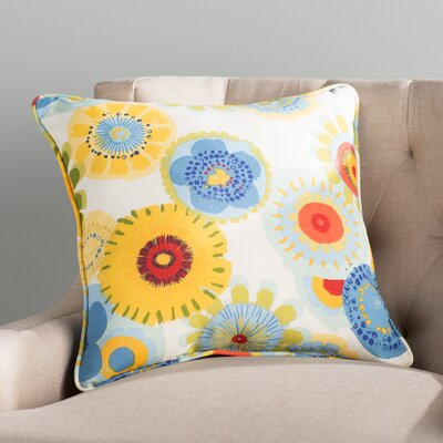 Purlles Outdoor Throw Pillow Color: Multicolored Floral