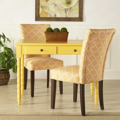 Lea Parsons Chair Upholstery: Orange Yellow