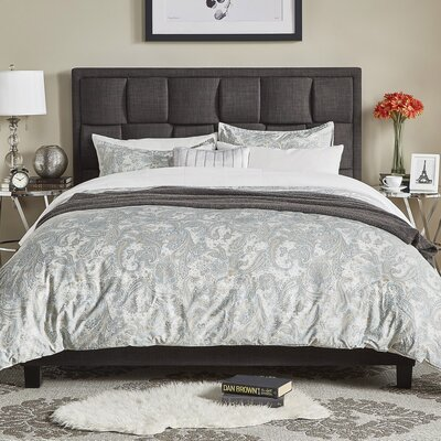 Hulings Upholstered Panel Bed Size: Full, Color: Dark Gray