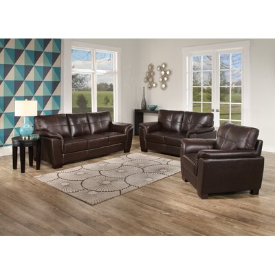 Curran Leather 3 Piece Living Room Set