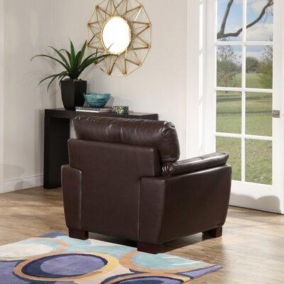 Curran Top Grain Brown Leather Club Chair