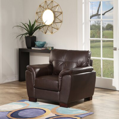 Curran Top Grain Brown Leather Arm Chair
