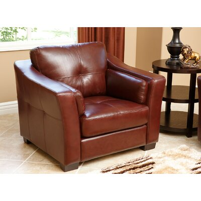Franklintown Top Grain Leather Club Chair