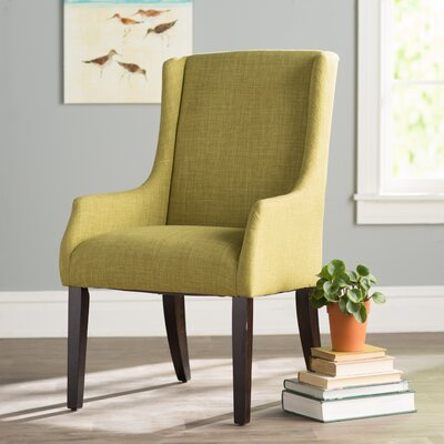 Tinley Linen Sloped Armchair Upholstery: Chartreuse