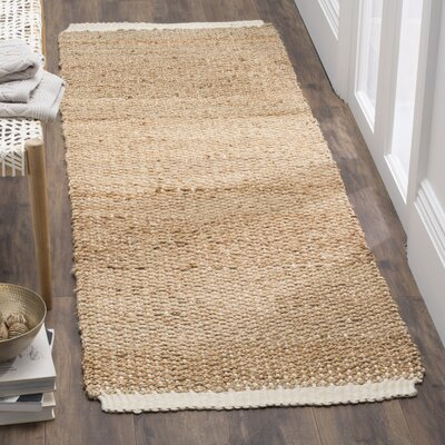 Natural Fiber Ivory/Natural Area Rug Rug Size: Runner 26 x 8