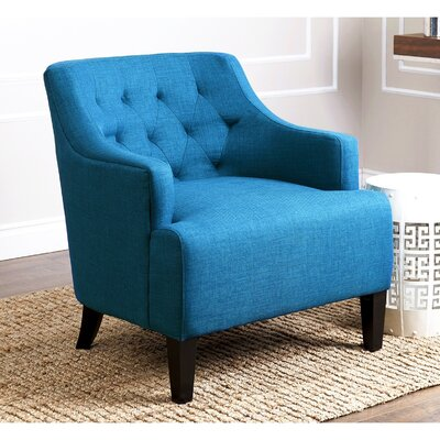 Boone Armchair Color: Petrol Blue