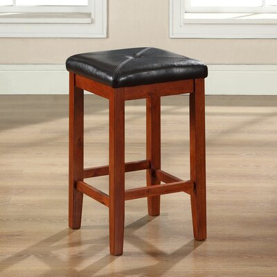 Honor 24 Bar Stool with Cushion Finish: Classic Cherry