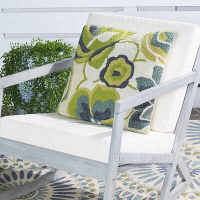 Leeds Floral Indoor Outdoor Decorative Pillow Color: Marine