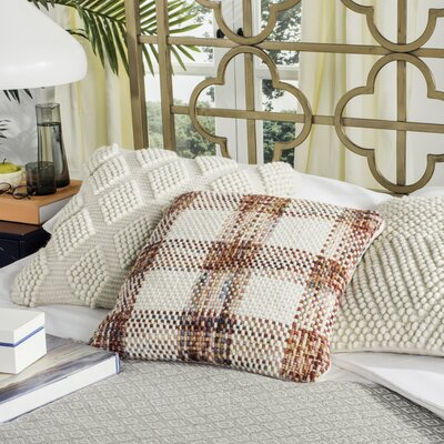 Hoytville Woven Plaid Throw Pillow