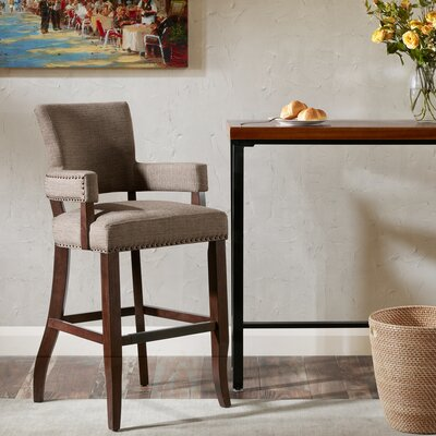 Gilberton Bar Stool Upholstery: Brown