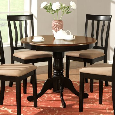Caledonia Dining Table Finish: Black/Cherry