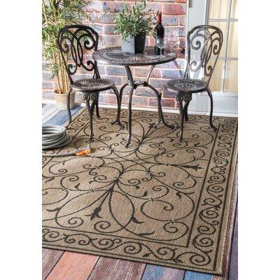 Bradford Brown Warbray Indoor/Outdoor Area Rug Rug Size: 53 x 76
