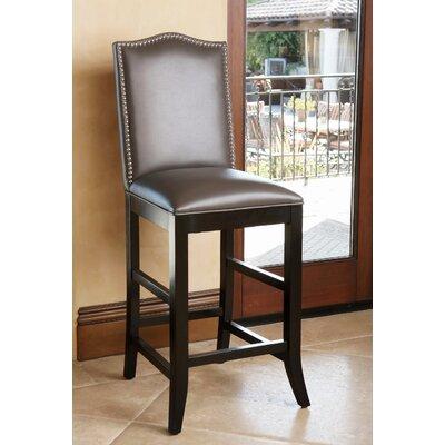 Liston 27 inch Bar Stool Upholstery: Grey