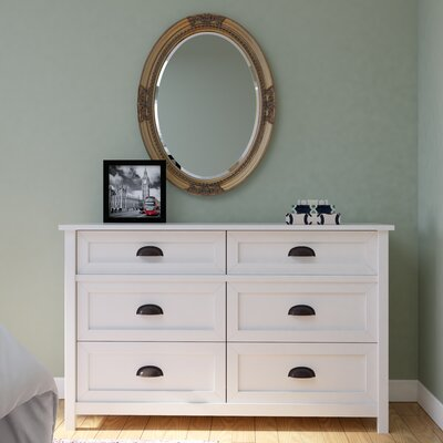 Coombs 6 Drawer Dresser Finish: Soft White
