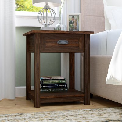 Coombs 1 Drawer Nightstand Finish: Walnut