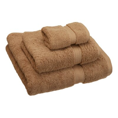 Hamden 3 Piece Towel Set Color: Latte