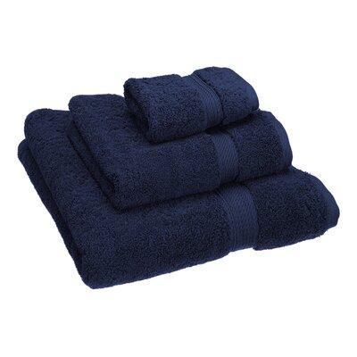 Hamden 3 Piece Towel Set Color: Navy Blue