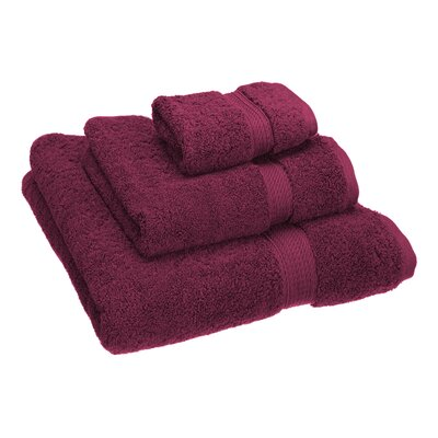 Hamden 3 Piece Towel Set Color: Plum