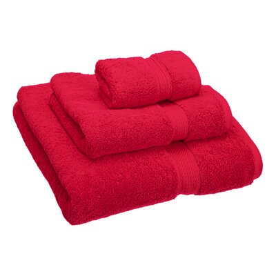 Hamden 3 Piece Towel Set Color: Red
