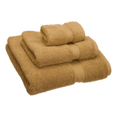 Hamden 3 Piece Towel Set Color: Rust