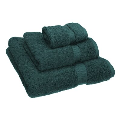 Hamden 3 Piece Towel Set Color: Teal