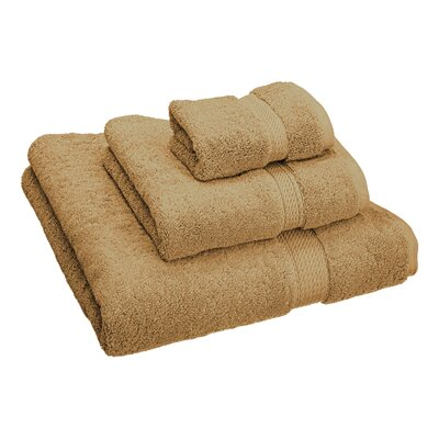 Hamden 3 Piece Towel Set Color: Toast