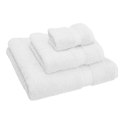 Hamden 3 Piece Towel Set Color: White