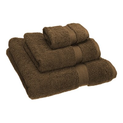Hamden 3 Piece Towel Set Color: Chocolate