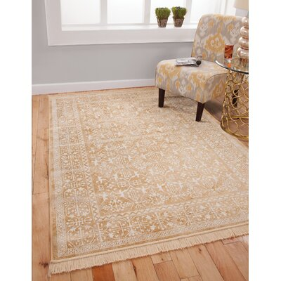 Beecroft Yellow/White Area Rug Rug Size: 5 x 8