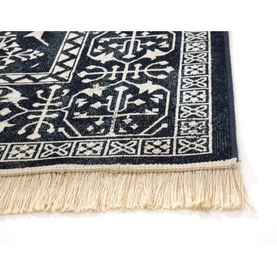 Beecroft Navy/White Area Rug Rug Size: 710 x 112