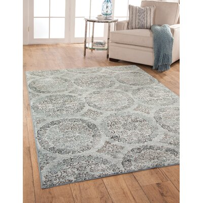 Beecroft Grey-Blue/Chocolate Rug Size: 5' x 8'