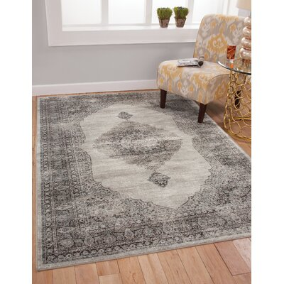 Beecroft Silver/Charcoal Area Rug Rug Size: 710 x 112