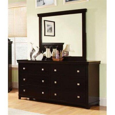 Buffalo 6 Drawer Dresser Color: Espresso